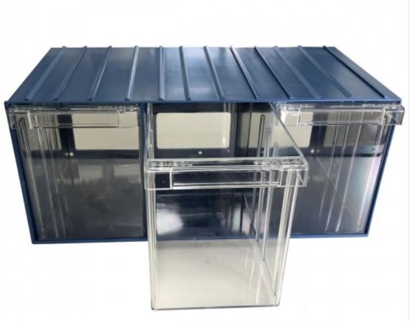 plastic drawer 36 box 204d x 370w x 160h blue 1203