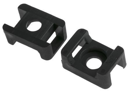 rs pro black cable tie mount 16 mm x 23mm 8mm max cable tie width