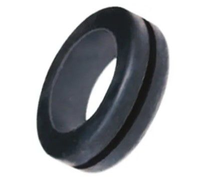 rs pro black pvc 22mm round cable grommet for maximum of 16mm cable dia