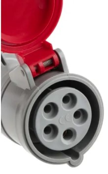 scame ip44 red cable mount 3pne industrial power socket rated at 160a 4150 v