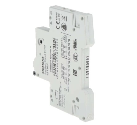 siemens sentron auxiliary contact 1nc 1no 2 contact din rail mount 6 a