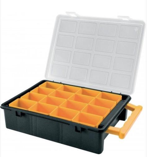 small parts assortment box 242w x 185d x 60h 16 compartments