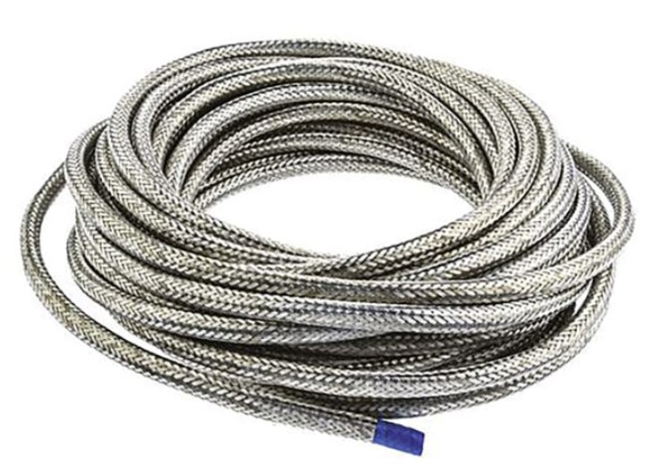 te connectivity expandable braided nickel plated copper alloy cable sleeve 75mm