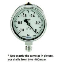 Vacuum meter 100mm -400-0 mbar G 1/2`