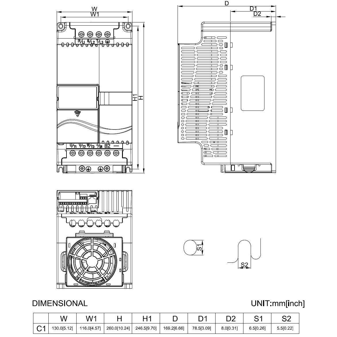 vfd055e43 400v400v 55kw keypad