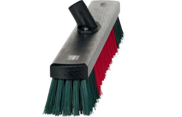 vikan brush head green red 665mm
